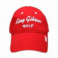 China Sports Caps, Made of 100% Fine Count Combed Cotton Material on sale