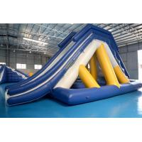 Quality Floating Inflatable Water Slide With Big Stainless Steel Anchor Ring wholesale