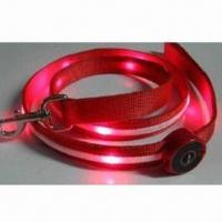 Quality LED Flashing Pet Lead, Various Colors and Sizes Available wholesale