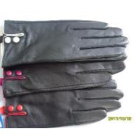 Quality Lady′s Leather Gloves with Two Buttons in Cuff (BL1012) wholesale