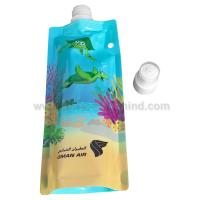China Custom Stand up and foldable Spout Pouch for water Packing( doy packing) on sale