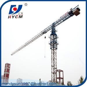 Quality QTP125 Mobile Tower Crane Specification for 10 ton 60m Jib Crane in Dubai wholesale