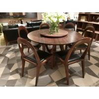 Cheap Nordic style Living room Furniture Walnut Wooden Circular Dining table in for sale