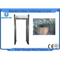 Quality Archway Portable Door Frame Metal Detector Security Gate With 6 Independent Zones wholesale
