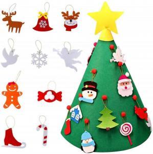 Quality 3D DIY Felt Christmas Tree Decorations , Felt Christmas Tree Customized Size wholesale