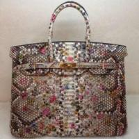 China Hermes Python Leather Birkin 35CM Flower GHW on sale