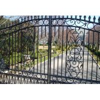 China Beautiful Residential Wrought Iron Gate Designs/Models on sale