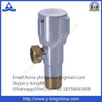 Quality 15mm Chrome Plated Brass Angle Valve with Zinc Handle wholesale