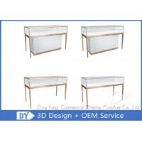 Quality Matte White Wooden Glass Display Cases For Jewelry And Watch Store wholesale