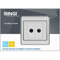 Buy cheap 2 gang TV socket    Hot sell one gang wall switch and socket for Brazil market ,colorful electrical wall switch 2 gang from wholesalers