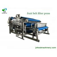 stainless steel automatic apple grape fruit juice belt filter pressing machine