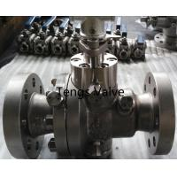 Quality Cast stainless steel A351-CF8M split body reduced bore flanged trunnion mounted ball valve wholesale