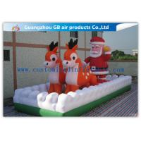 China Outside Inflatable Christmas Blow Up Santa And Reindeer For Party / Stores on sale