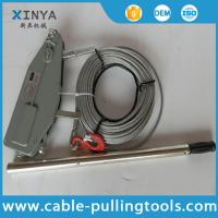 Quality Manual Cable Pulling Tools Hand Wire Rope Winch Wire Rope Tirfor 3.2 Ton wholesale