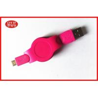 Quality Android Phone Retractable Micro USB Cable Colorful ABS Two Way wholesale