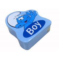 China Removable Lid Irregular Tin Can Personalized Logo For Lovely Biscuit Cookie on sale