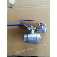Quality 2pc Female Threaded Ball Valve with Mounted Pad wholesale
