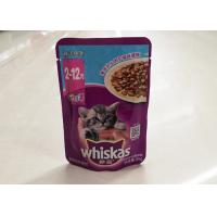 Buy cheap 85 G Cat Pet Food Packaging Bags / Upright Aluminum Foil Packaging Bag from wholesalers