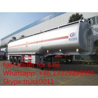 China carbon steel 55,000L fuel trailer for sale, factory sale best price CLW 38.5tons gasoline tank trailer for sale on sale