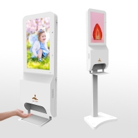 China 8GB Advertising Free Standing Digital Signage With Hand Sanitizer Dispenser on sale