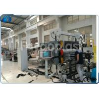 China PC Hollow Sheet / PET Sheet Extrusion Line , Plastic Board Making Machine High Speed on sale