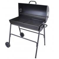 China Outdoor Barbecue Trolley Charcoal Smoker BBQ Grill With Powder Coating Surface on sale