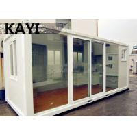 Quality Charming Steady Mobile Container House Red Floor Panel PVC Window With Decoration wholesale