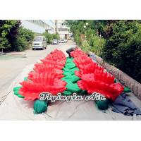 Buy cheap Red Inflatable Flower Chain with Giant Flowers for Wedding and Event product