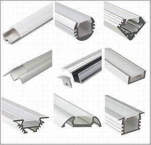 Cheap Silver Matt Square / Round Anodized Aluminium LED Profiles For LED Frame for sale