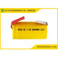 China Multi Function Sub C 1.2 Volt Battery / Sub C 2200mah Nicd Rechargeable Battery on sale