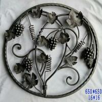 China Wrought Iron Elements/cast iron Ornaments/cast iron parts  for balusters and gates decorative -- Cast iron grapes leaves on sale