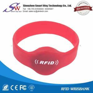 China OEM logo rfid silicone wristband em4100/t5577/em4305 on sale