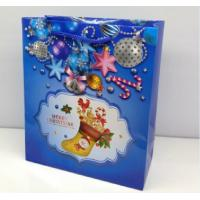 Quality Full color print matte Christmas gift paper bags with PP handle wholesale