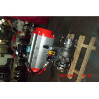 China Automatic Water Shut Off Valve , Pneumatic Piston Metal Seated Stainless Ball Valve on sale