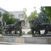 Quality Black marble lions sculpture wholesale