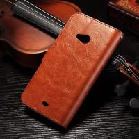 Quality PU Handmade Nokia Lumia Leather Case Flip Cover For Nokia 535 / 540 Anti - Slip wholesale
