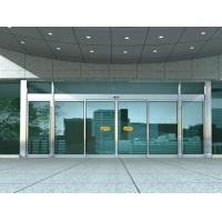 Quality Aluminum Sliding Automatic Glass Door With 10mm Clear Tempered Glass wholesale