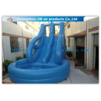 China Tropical Swiming Pool Huge Inflatable Water Slides For Rent In Hot Summer Games on sale