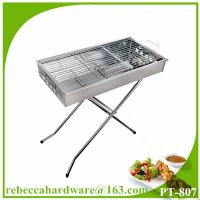 China Foldable stainless steel charcoal barbecue grill on sale