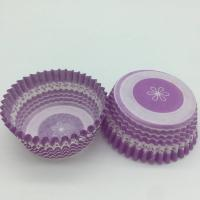 Quality Purple Round Shape Muffin Paper Cups, Striped Cupcake LinersFDA SGS Standard wholesale