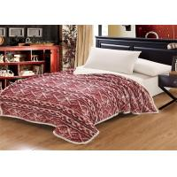 China 130x170cm 150x200cm Coral Colored Throw Blanket , Burgundy Coral Plush Blanket on sale