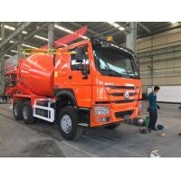 China Orange Color 6x4 Sinotruk Concrete Mixer Tank Truck 6 - 8M3 Euro2 336hp LHD on sale