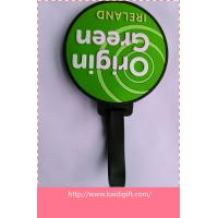 China customized round shape soft PVC bag tag on sale