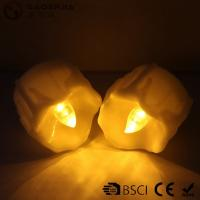 Quality Yellow Flickering Timing Flameless LED Tea Light Candles with Timer wholesale