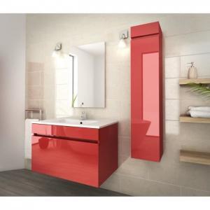 Quality 80 Inch Red Single Bathroom Vanity , Good Stability Bathroom Vanity With Sink wholesale