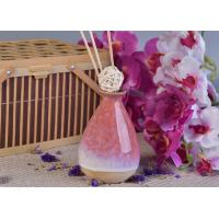 Quality 330ml Pink Glazing Ceramic Aromatherapy Oil Diffuser Bottle for Home Fragrance wholesale