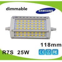 Quality Dimmable 25W 118mm led R7S lamp Samsung SMD5630 LED source replace 250w halogen lamp AC85-265V wholesale