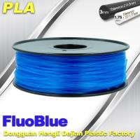 Quality Fluorescent Blue 3D Printer Filament  PLA 1.75mm / 3.00mm 1.0KG / roll For Markerbot wholesale