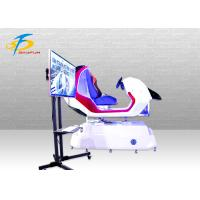 Quality Red Color VR Racing Simulator / Durable FRP 9D VR Car Driving Simulator wholesale