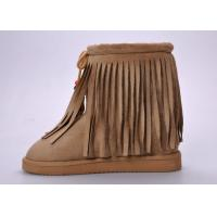 Quality Fashionable Womens Winter Snow Boots , Moisture-wicking Tassel Snow Boots wholesale